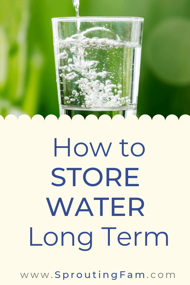 how to store water for emergencies