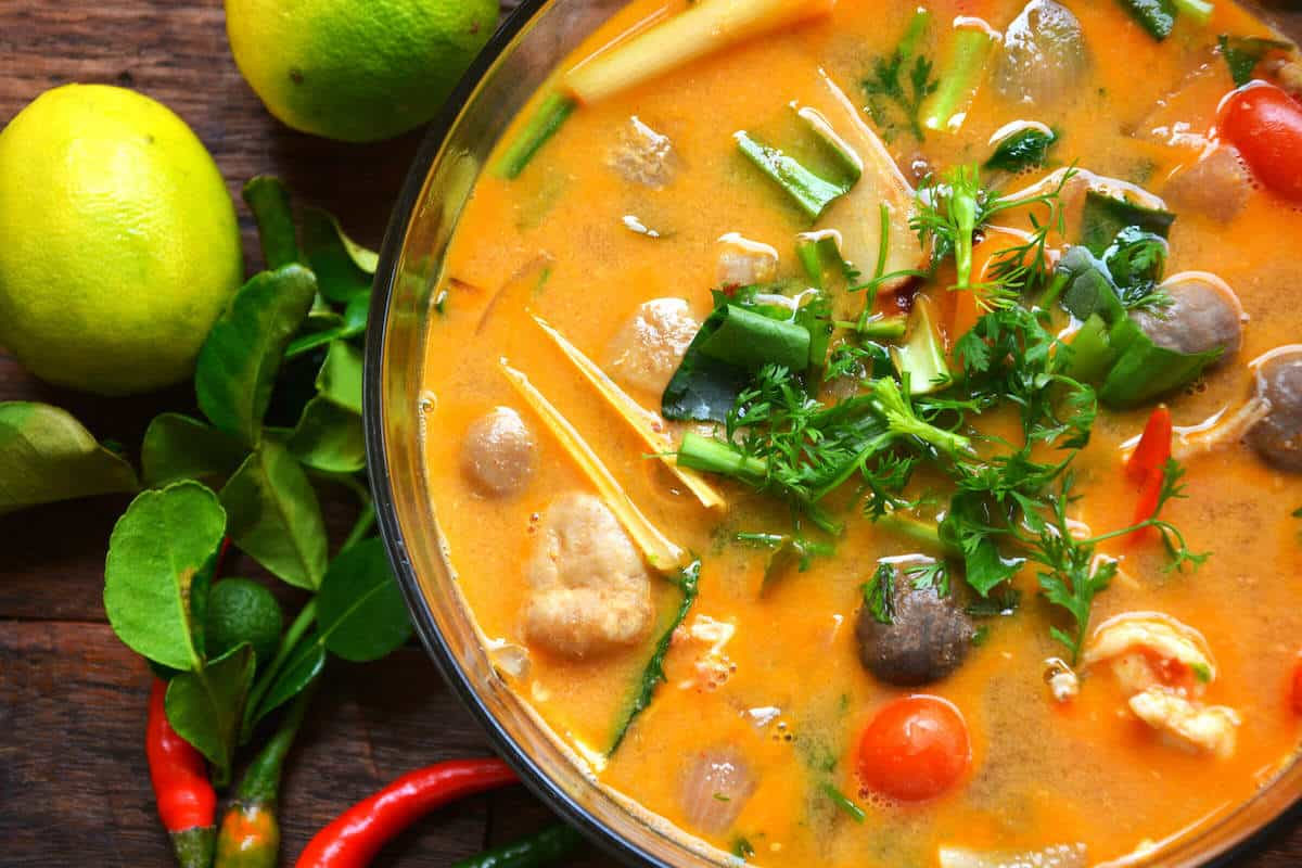 tom yum soup recipe with shrimp (goong)