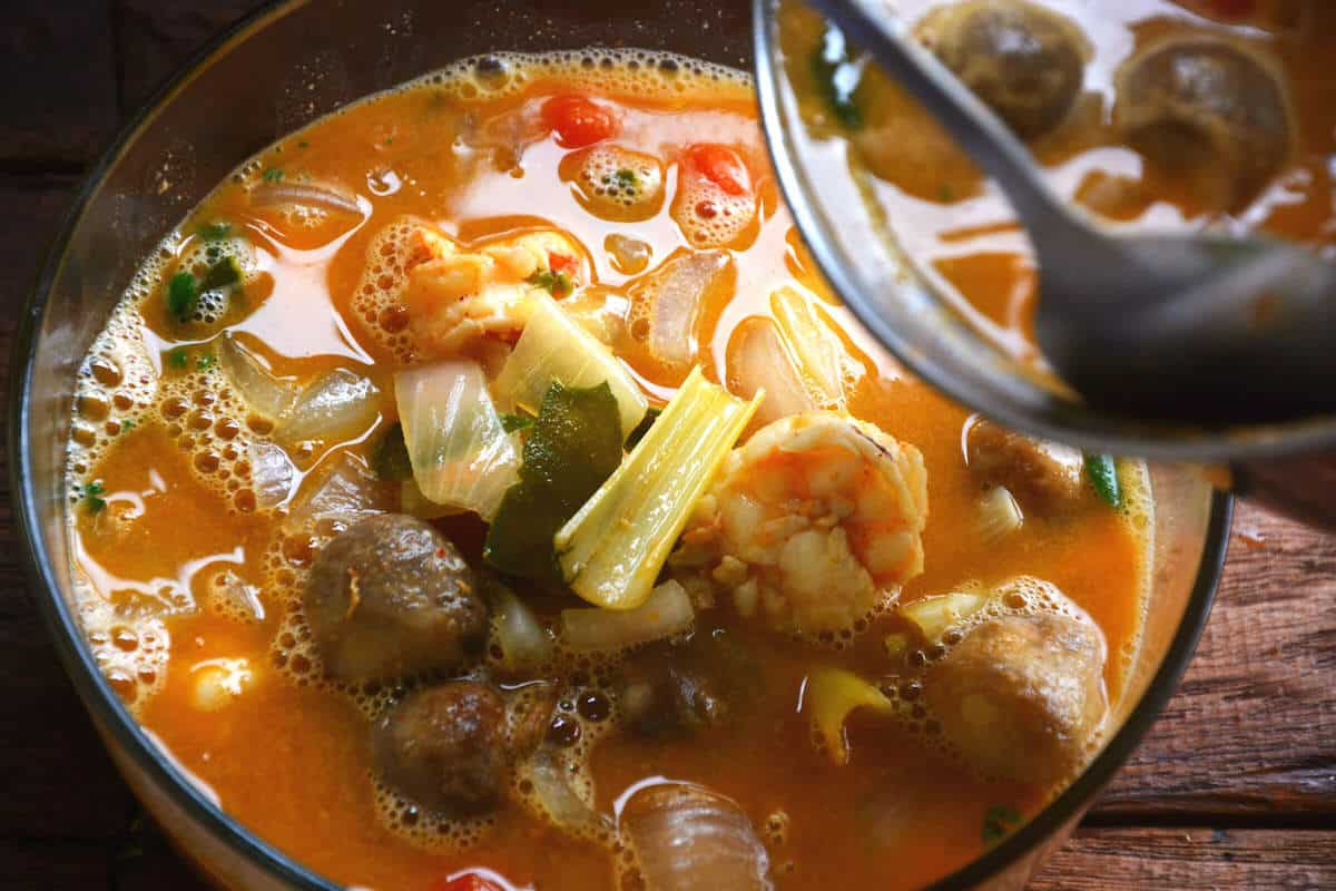 tom yum soup recipe with prawns